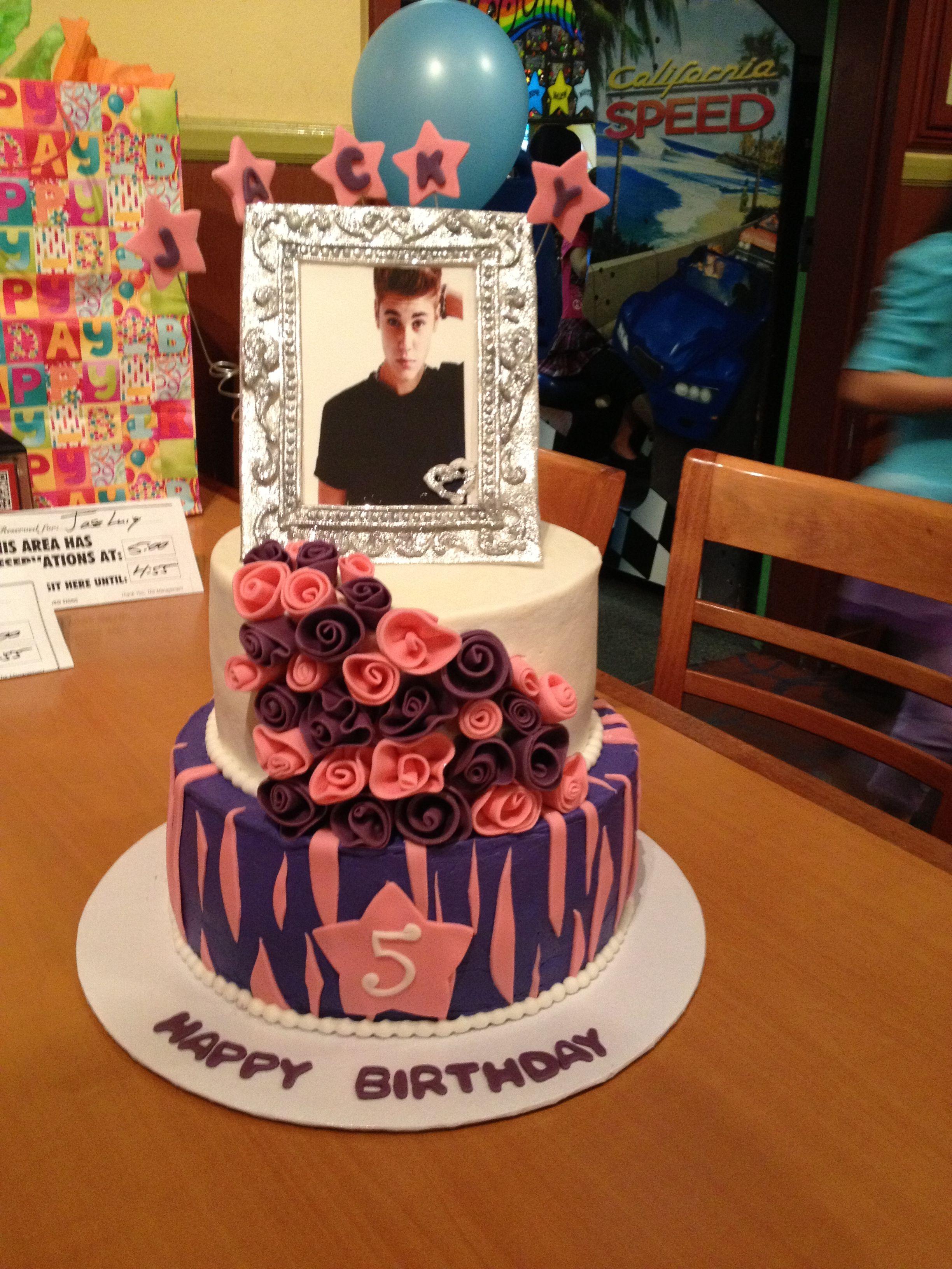 Justin bieber scrapbook ideas - Justin Bieber Cake Fondant Frame Colored With Disco Dust Edible Image