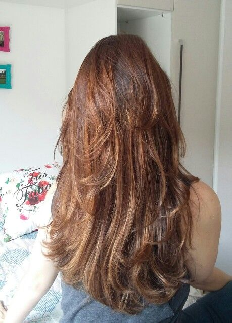 Sombré hair castanho iluminado