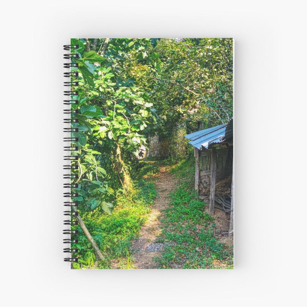 'Amazing village road' Spiral Notebook by BennEmm