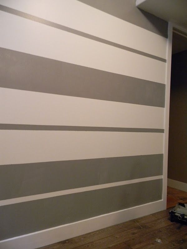 How To Paint A Diamond Accent Wall Using Scotchblue Painters Tape Throughout Amazing Wall Paint D Painting Stripes On Walls Striped Walls Modern Interior Decor