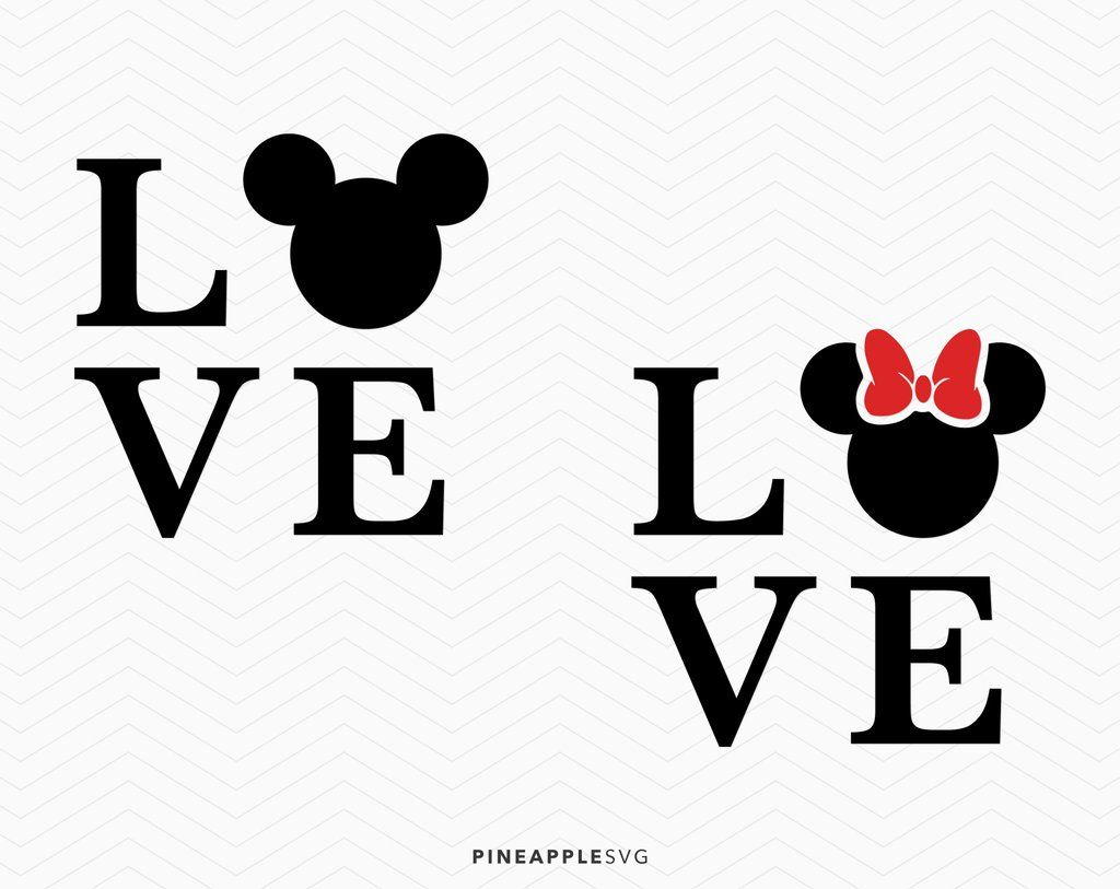 Download Mickey Mouse and Minnie Mouse Love SVG | Mickey mouse ...