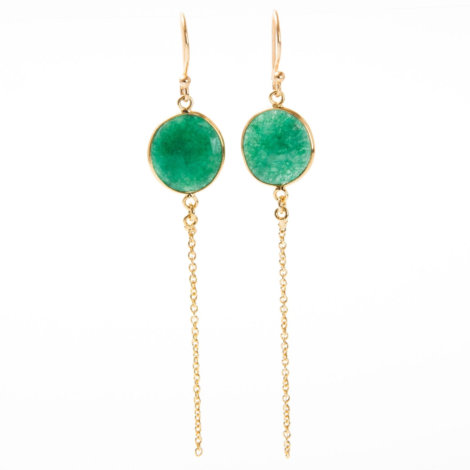Vic vermeil earring with green onyx