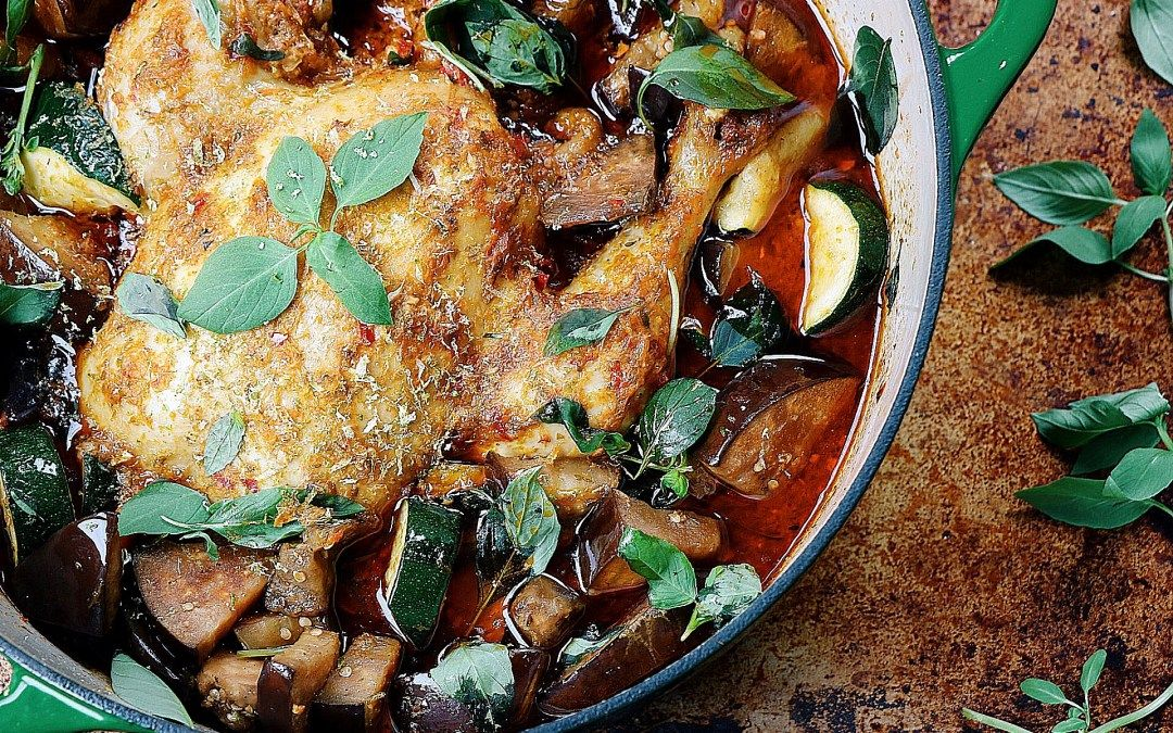 Dutch oven roasted red curry whole chicken recipe