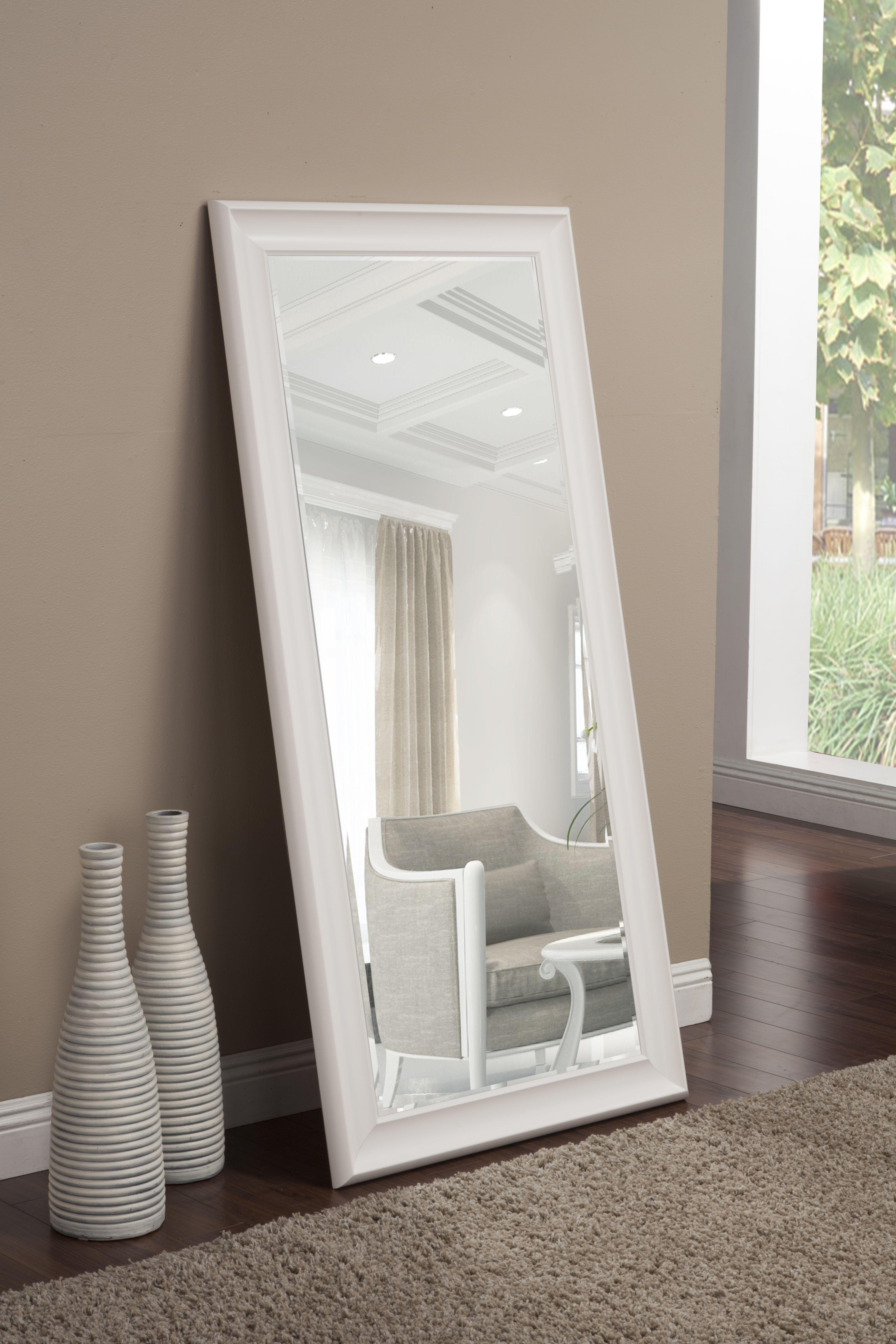 Full Length Leaner Mirror White 65 X31 By Martin Svensson Home