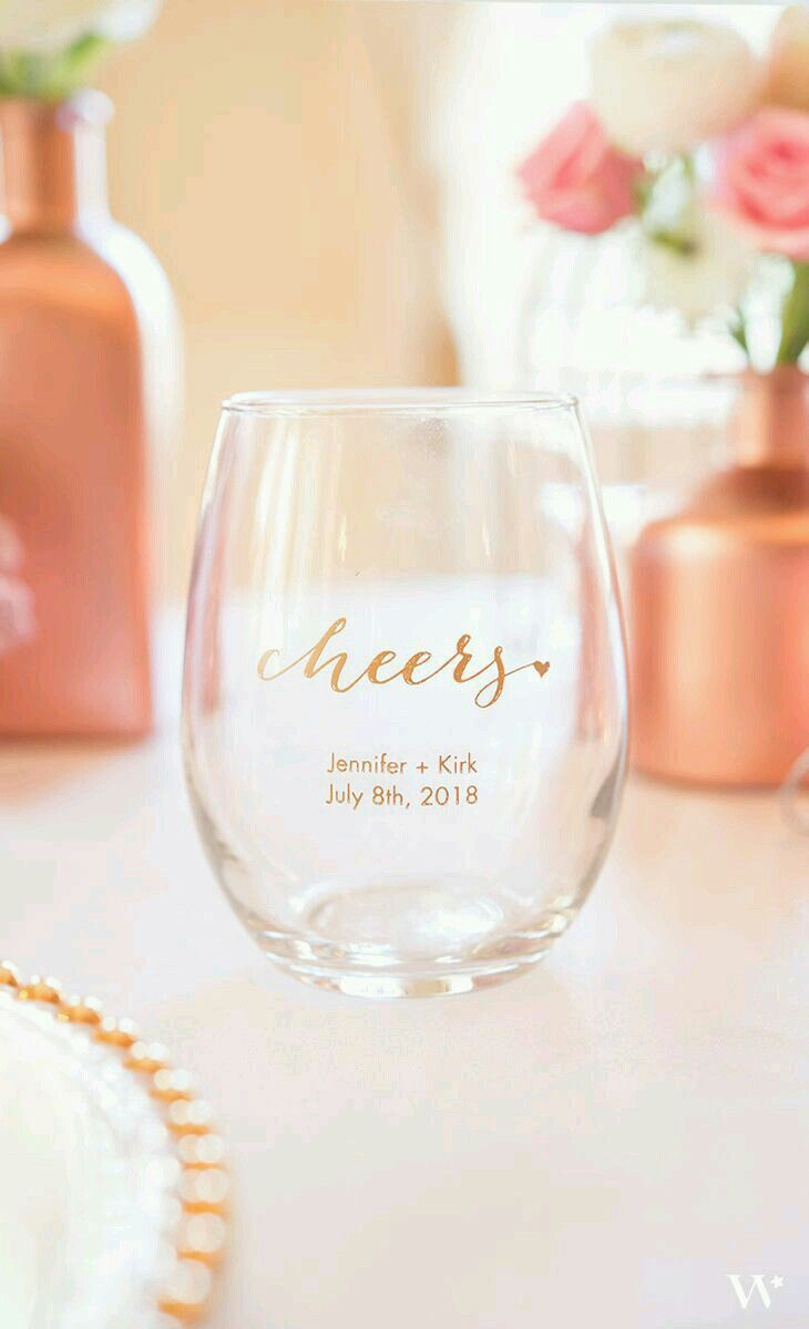 Guest Favors Personalized Stemless Glasses My Bohemian