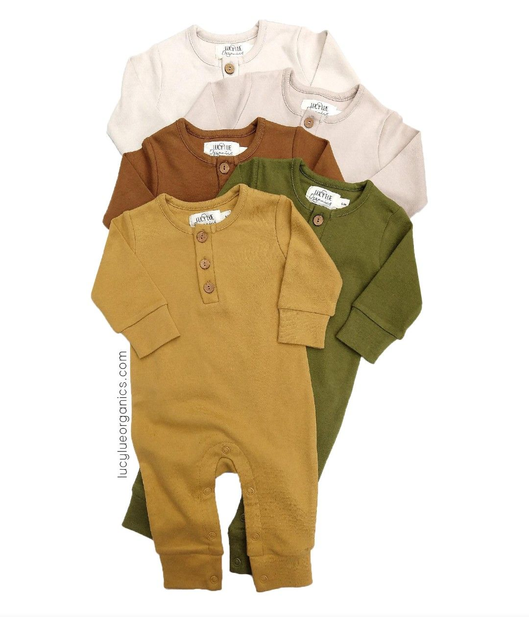 Lucy Lue Organics baby rompers are classic, cozy, and cute! Made in gender neutral colors, this romoer ia great for girl or boy. The perfect baby gift for a new or expecting mom. Shop all of our styles at lucylueorganics.com