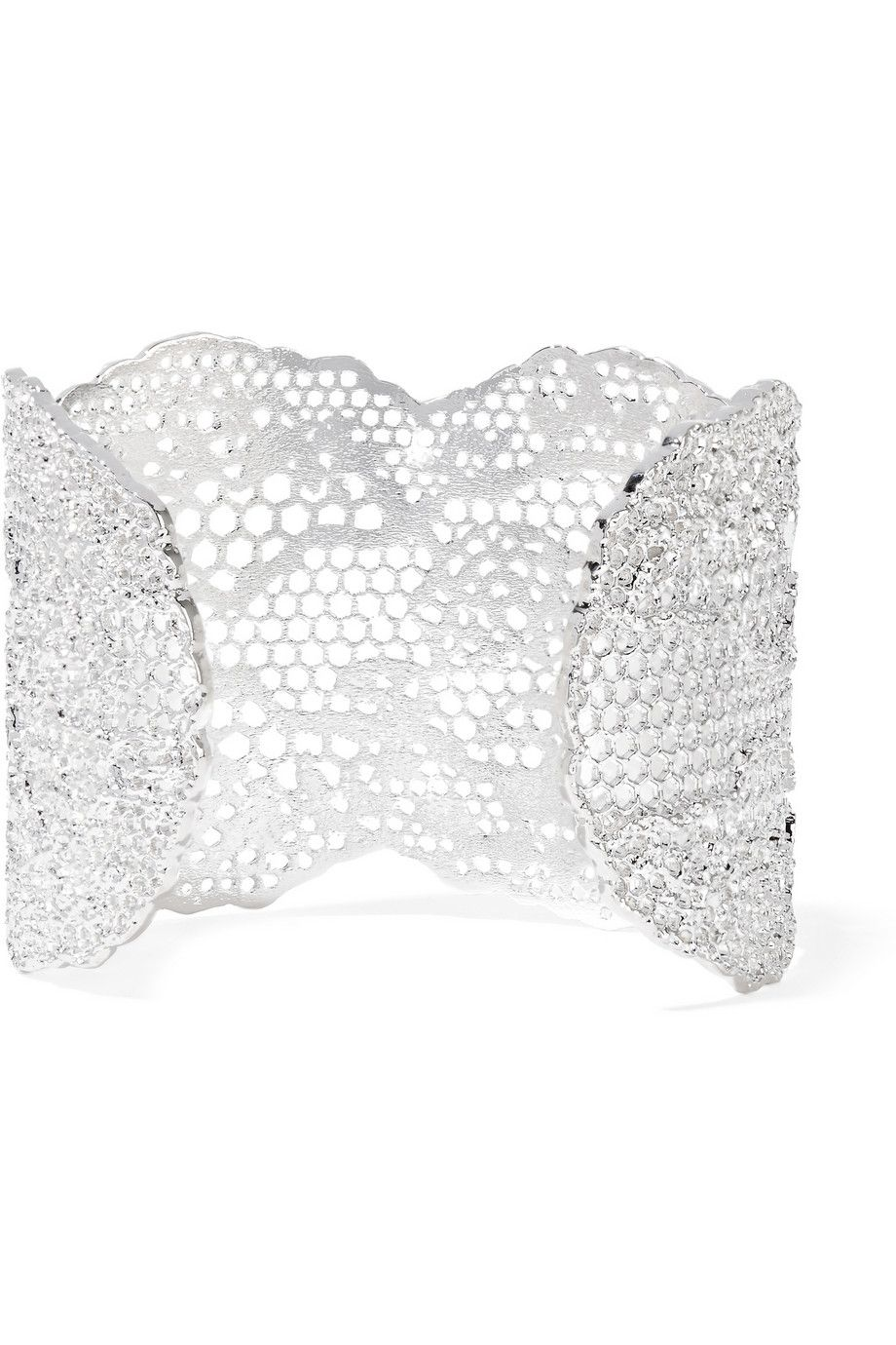 Lace Silver-plated Cuff - one size Aur hE9XdLwoe