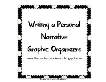 Personal Narrative Graphic Organizer by The Teacher's Work