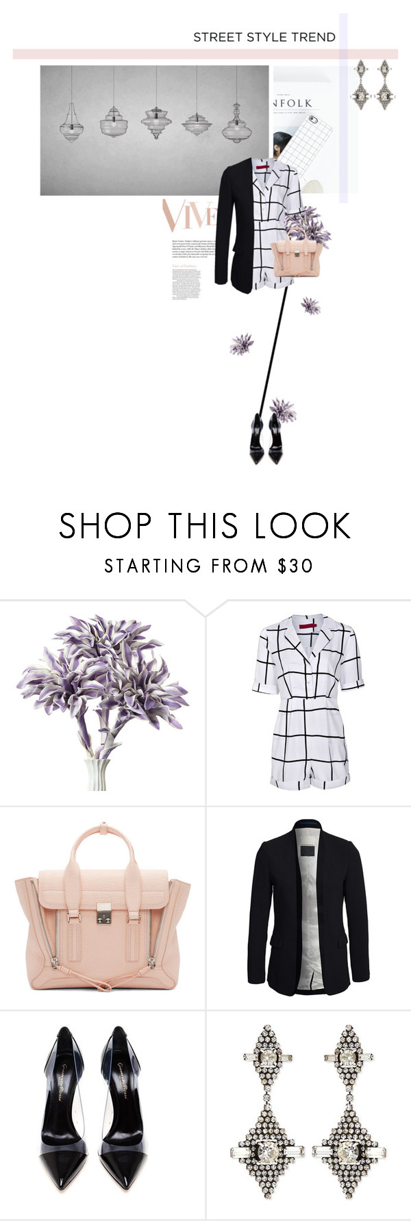 """""""Grid Check"""" by kitti-takacs ❤ liked on Polyvore featuring Boohoo, 3.1 Phillip Lim, By Malene Birger, Gianvito Rossi, DANNIJO and nyfwstreetstyle"""