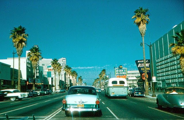 Streets of California in the 1960s East los angeles