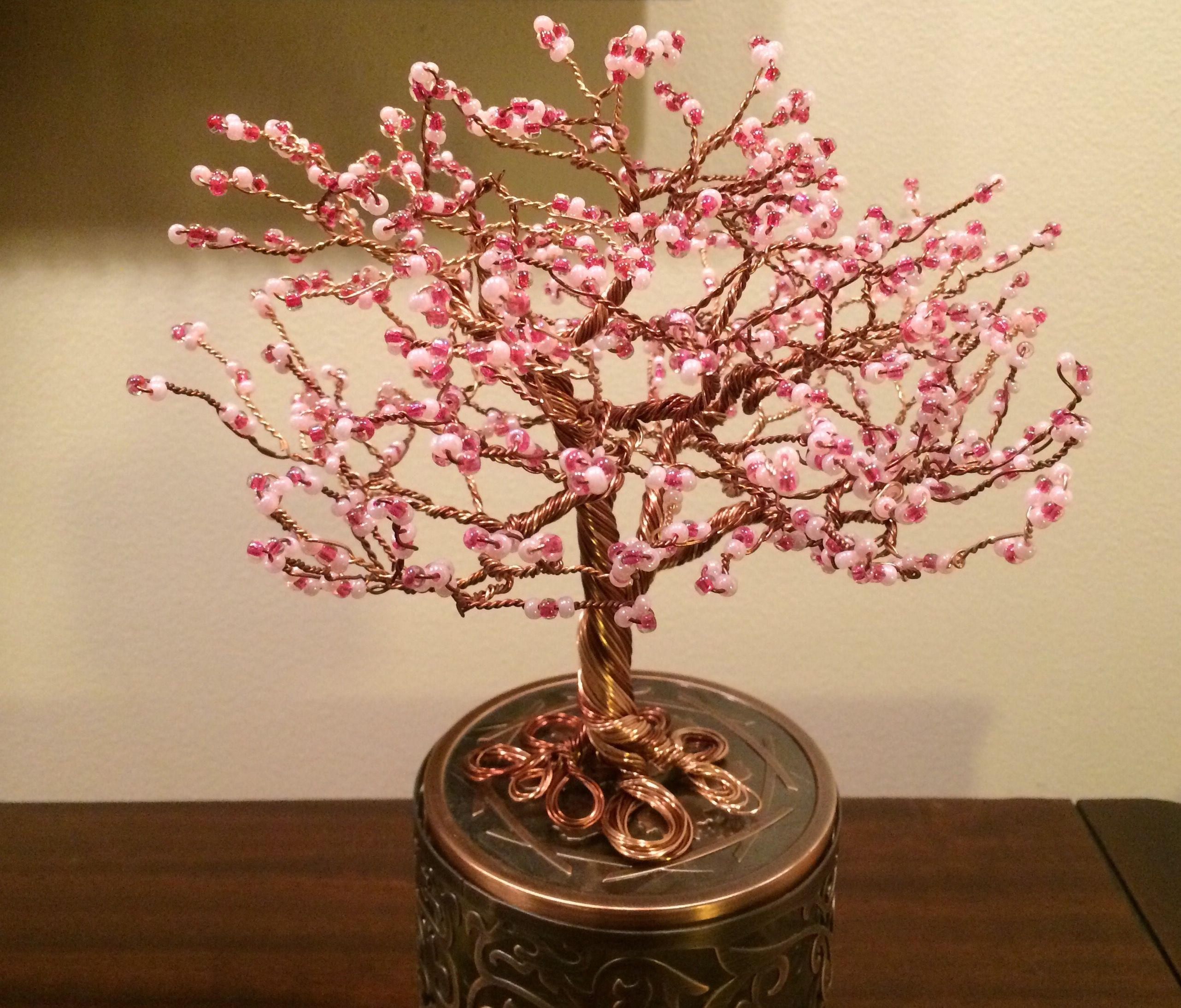 My First Japanese Cherry Blossom Wire Tree Japanese Cherry Blossom Japanese Cherry Diy Beads