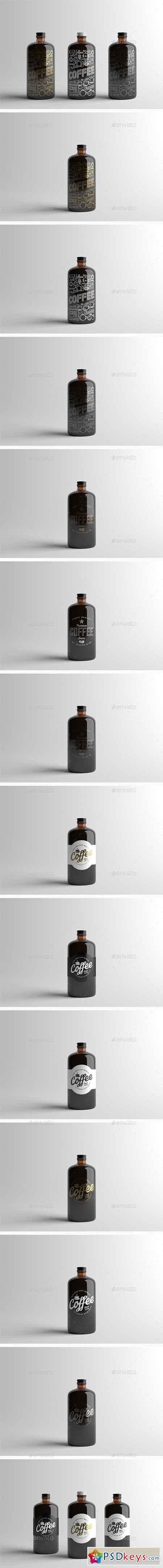 Coffee Bottle Packaging Mock-Up 15512013 | mockup | Bottle