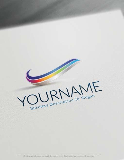 Online Free 3D Logo Maker - 3D Wave Logo Design | 로고, 디자인
