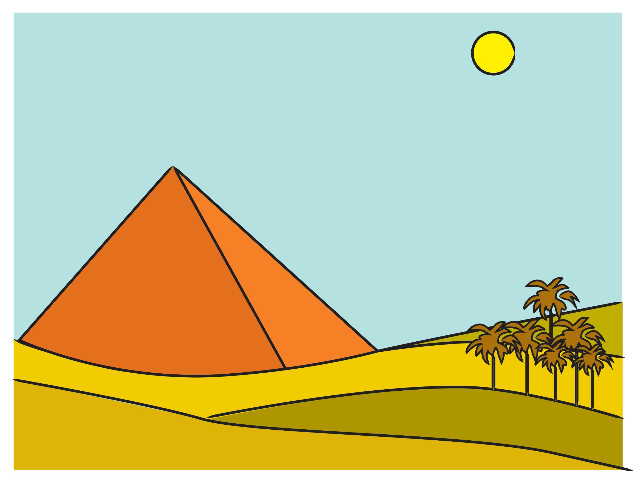 Draw The Egyptian Pyramids
