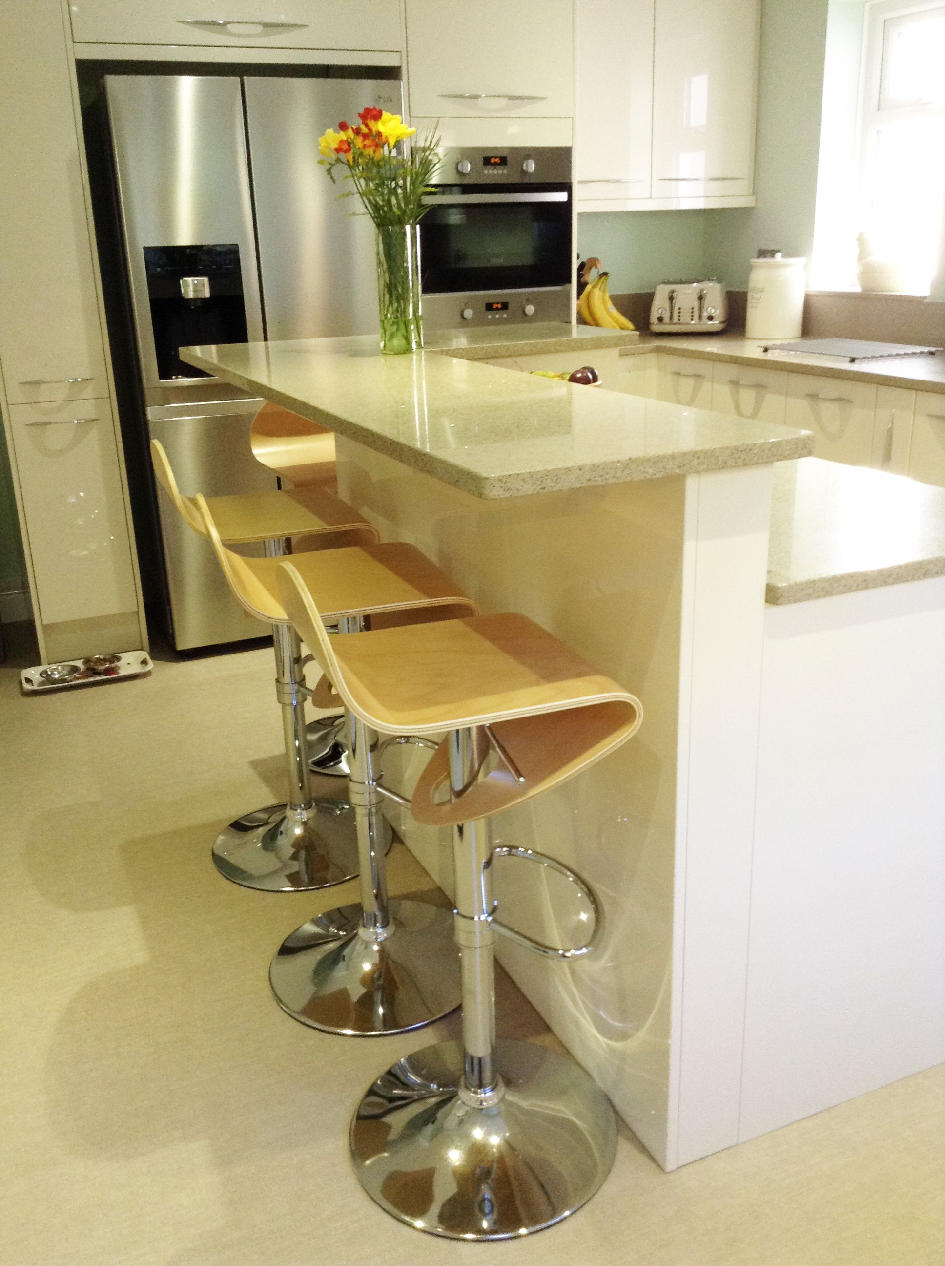 A lovely image of the Abele Bar Stool Beech in this gorgeous modern ...