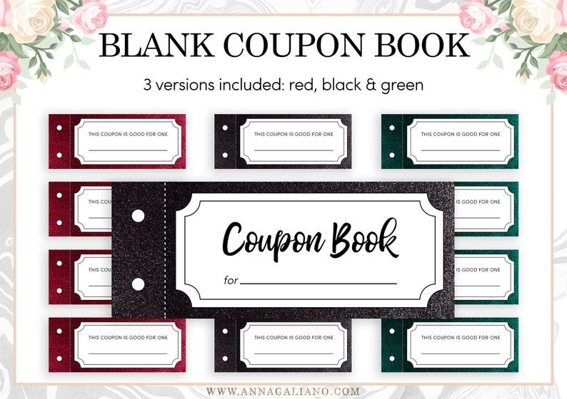 Printable Coupon Book Template Blank Vouchers Best Friends Etsy In 2021 Coupon Book Printable Coupon Book Coupon Book Template