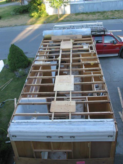 Repair Trailer Roof Roofrepairideas Camper Repair Remodel Remodeled Campers