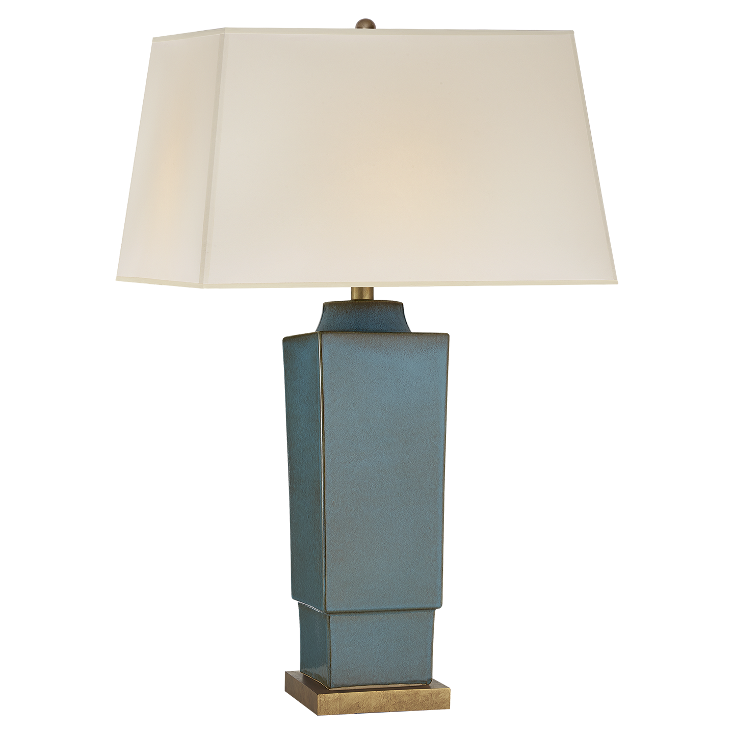 Oslo Blue With Natural Paper Shade