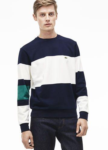290909b708 Men's Fleece Color Block Crew Neck Sweatshirt | common supply in ...