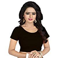 Indian Red Stretchable Lycra Ready To Wear Saree Blouse With Short Lace Sleeve Choli Top Tunic For Women Festive Wear Sari Blouse