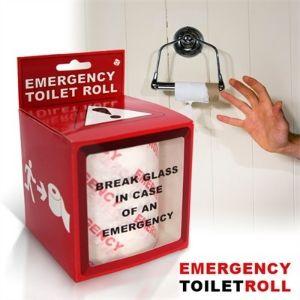 Vous manquez de PQ ? Aucun problème, vous êtes équipé en cas de pépin avec le papier toilette d'urgence. #insolite