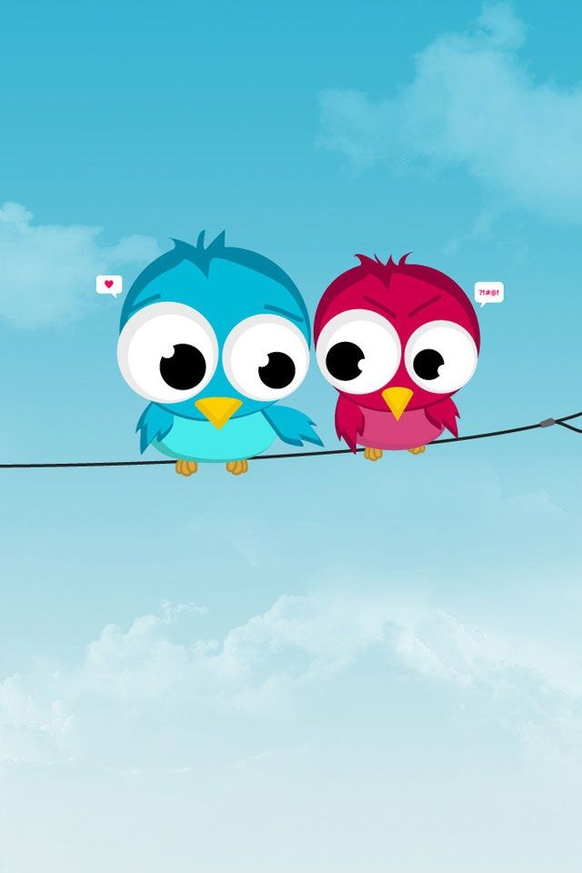 Birds In Love Cover Wallpaper Backgrounds For Mobile Cute