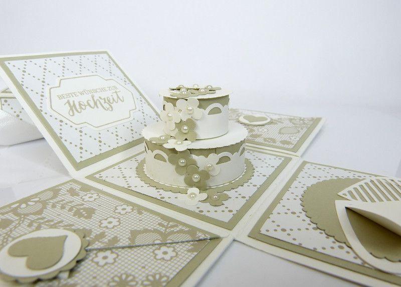 Geldgeschenke - Explosionsbox zur Hochzeit für Geldgeschenk - ein Designerstück von Stempelitis bei DaWanda