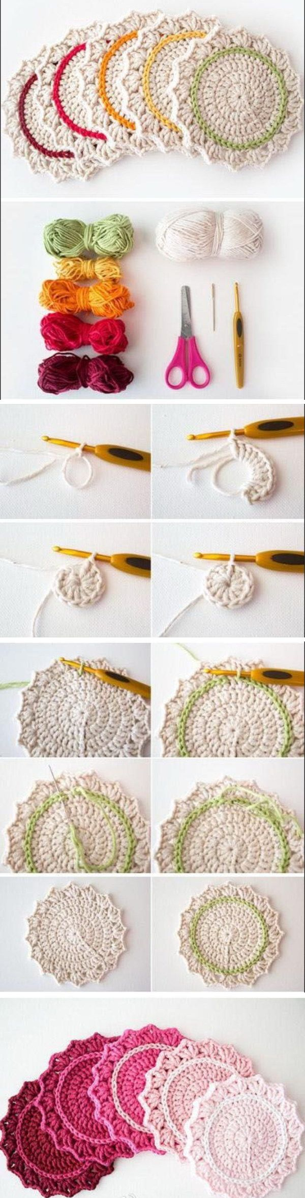 Easy Crochet Projects for You to Start with | Ombre, Ganchillo y Tejido