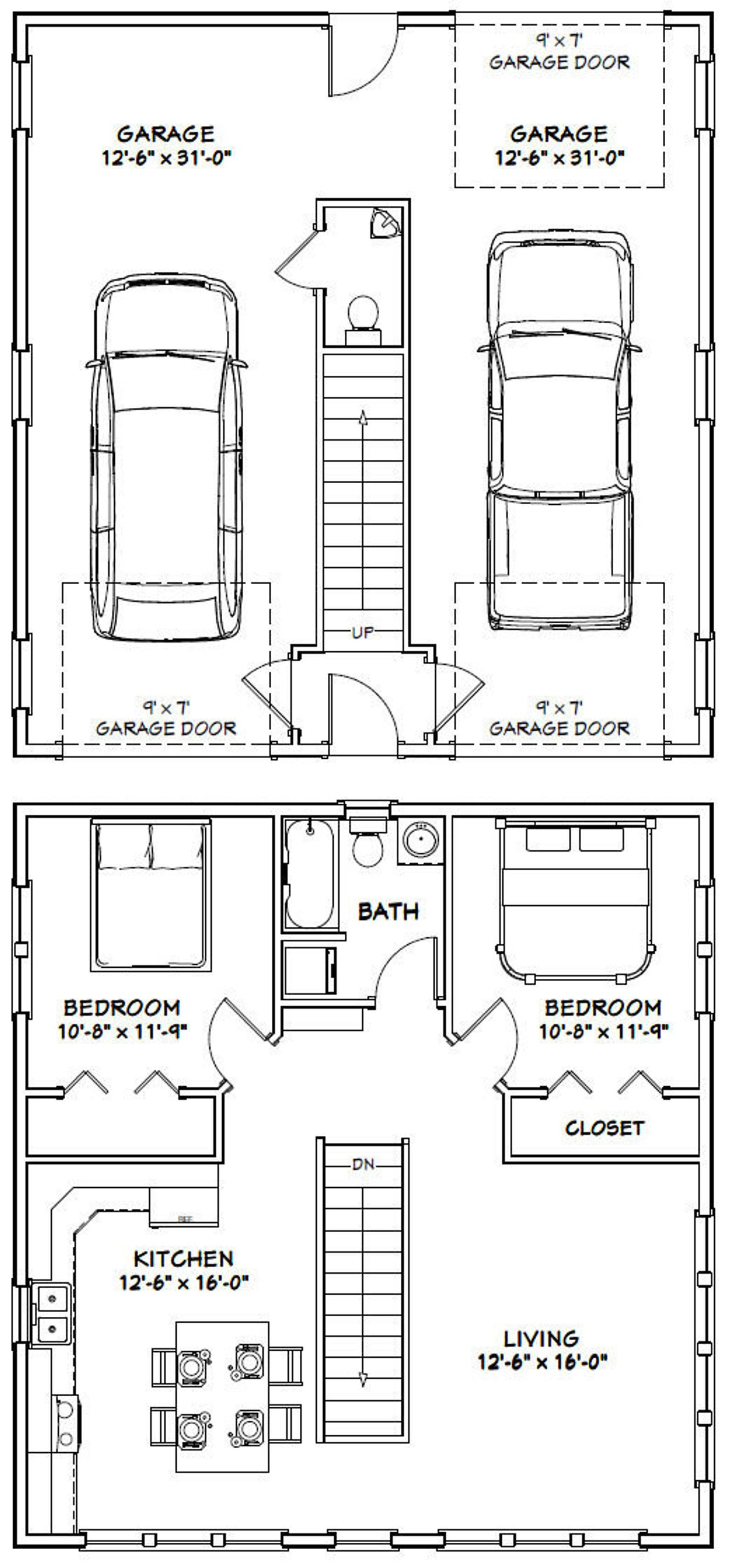 30x32 House -- 2-Bedroom 1.5 Bath -- 961 sq ft -- PDF ...