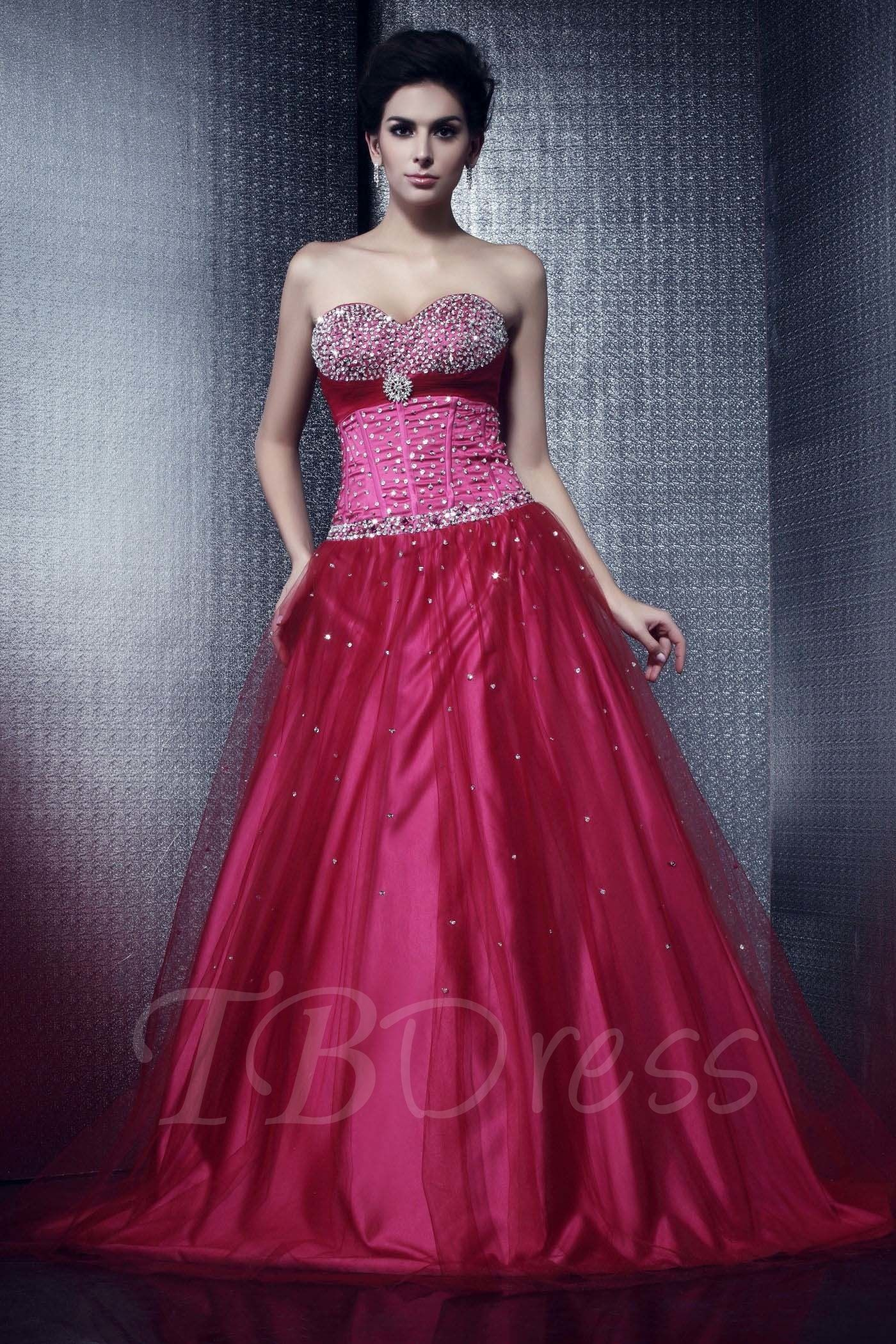 Tulle beaded strapless sweetheart neckline with ball gown talineus
