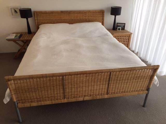 2nd Hand Bed Vintage Ikea Wicker Bed Sundnes Queen Size Beds Gumtree Australia Inner Sydney Darlinghurst 1090171177 Ikea Bed Queen Size