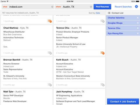 The Indeed Resume Search iOS app allows you to easily create a - Indeed Search Resumes