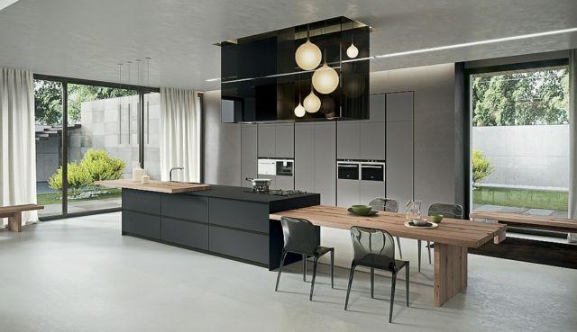 La cuisine contemporaine Arrital et sa collection AK_04 Ilot de