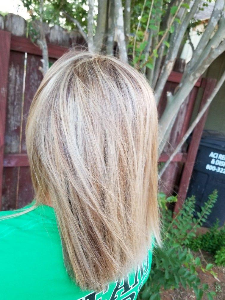 Heavy Blonde Highlights On Light Brown Hair Heavy Blonde Highlights Blonde Highlights Light Brown Hair