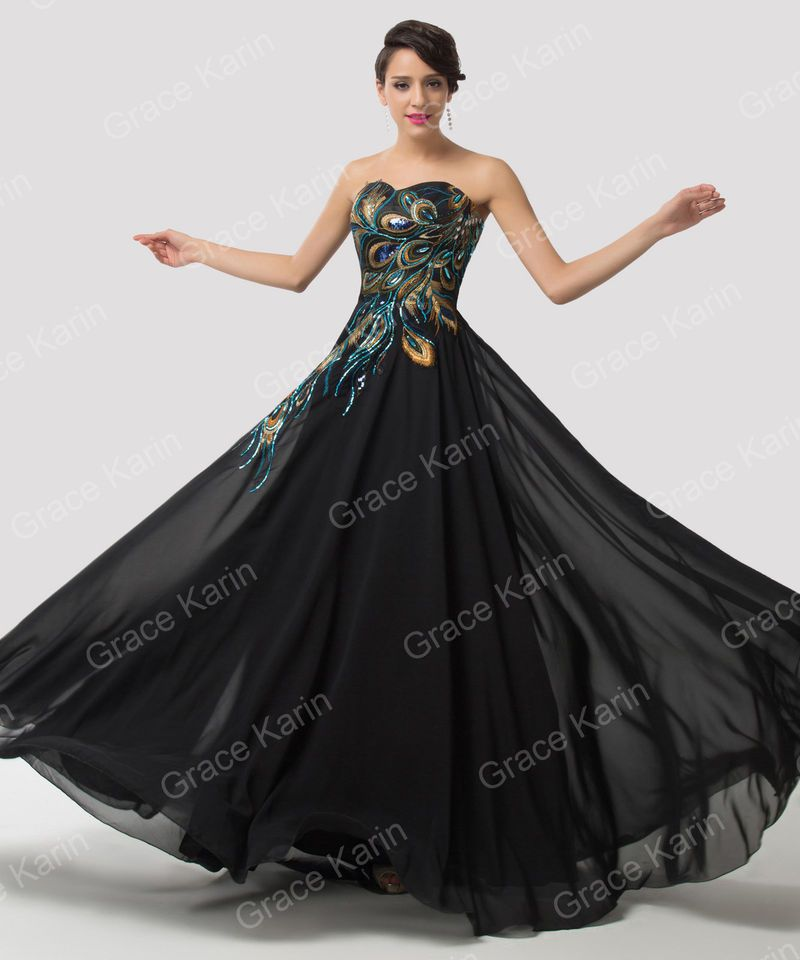 Vintage Long Masquerade Prom Party Dress Evening Gown Bridesmaid