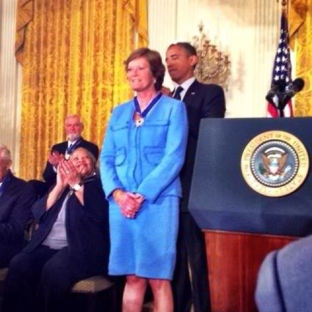 Pat Summit Influential Women Lady Medal Of Honor