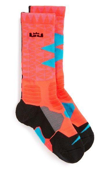 ffc142bc3328 Nike  LeBron - Hyper Elite  Cushioned Basketball Crew Socks (Big Kid ...