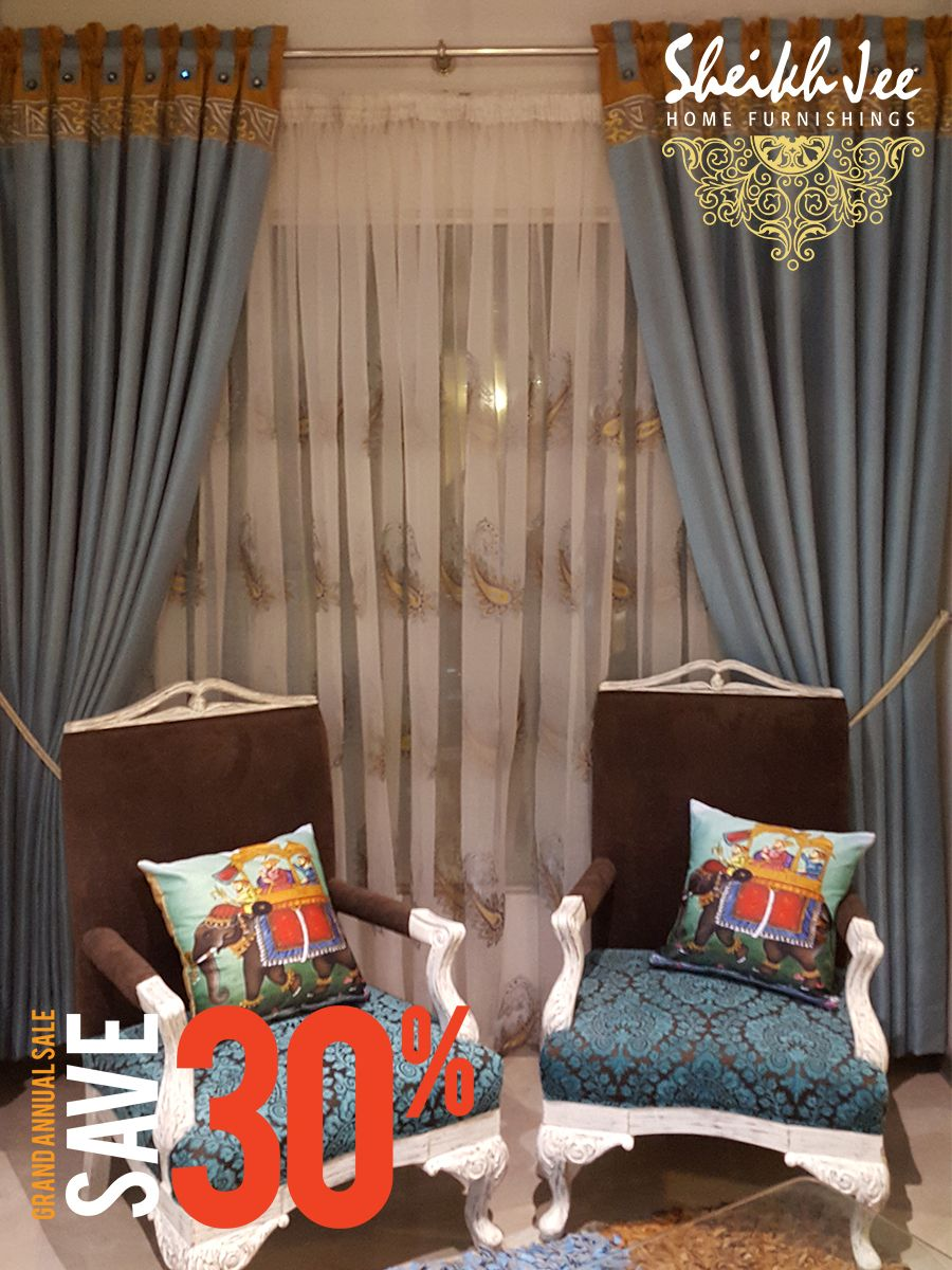 Now offering upto discount on entire stock of furnishing fabrics