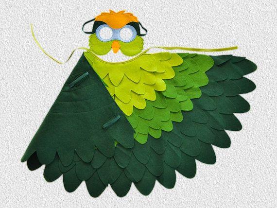 Green Parrot Costume Parakeet Halloween Bird By BHBKidstyle