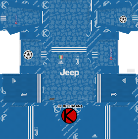 Juventus 2019 2020 Champions League Kit Dream League Soccer Kits In 2020 Soccer Kits Goalkeeper Kits Juventus