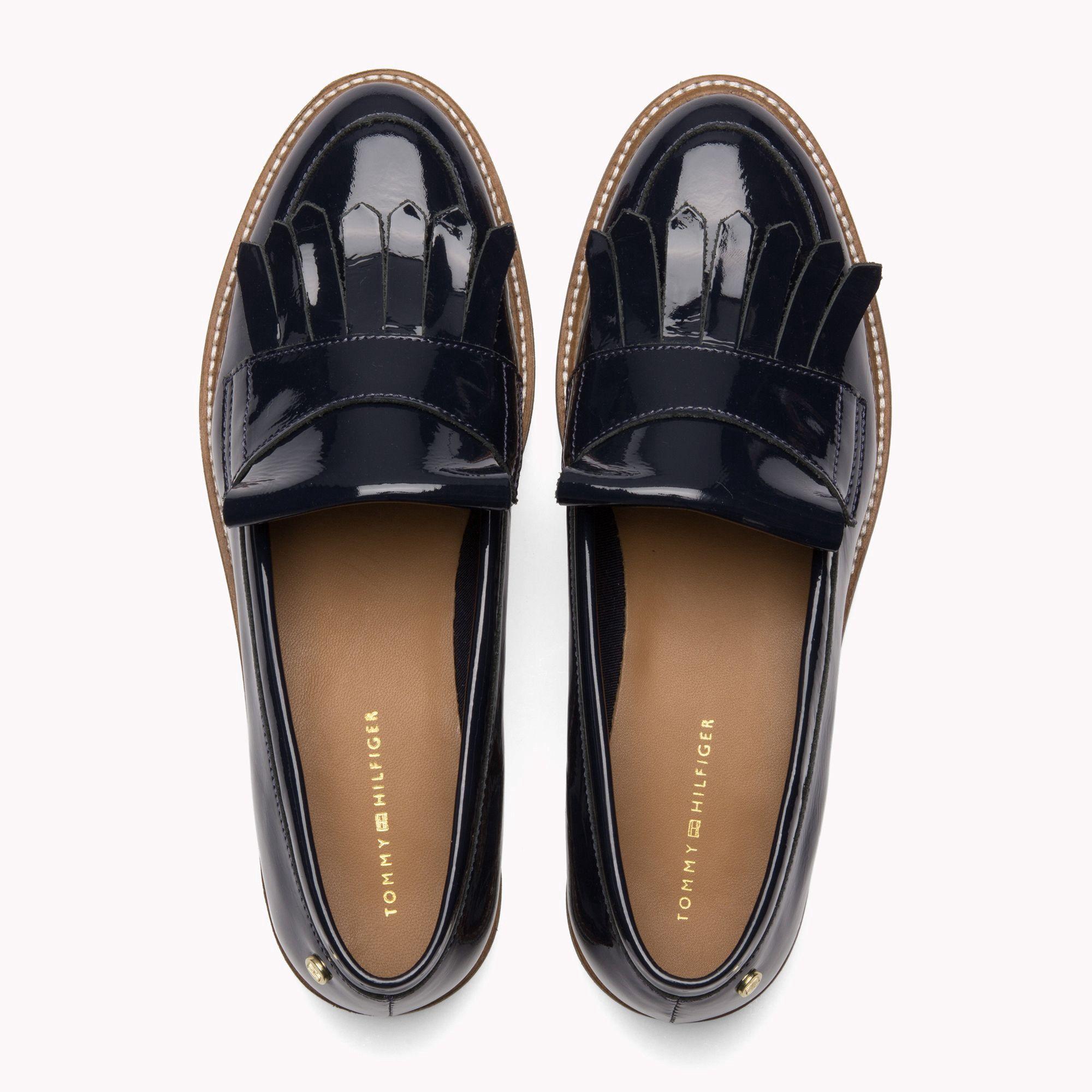 8f409950af1b Tommy Hilfiger Patent Leather Fringe Loafers - Whisper White 9.5