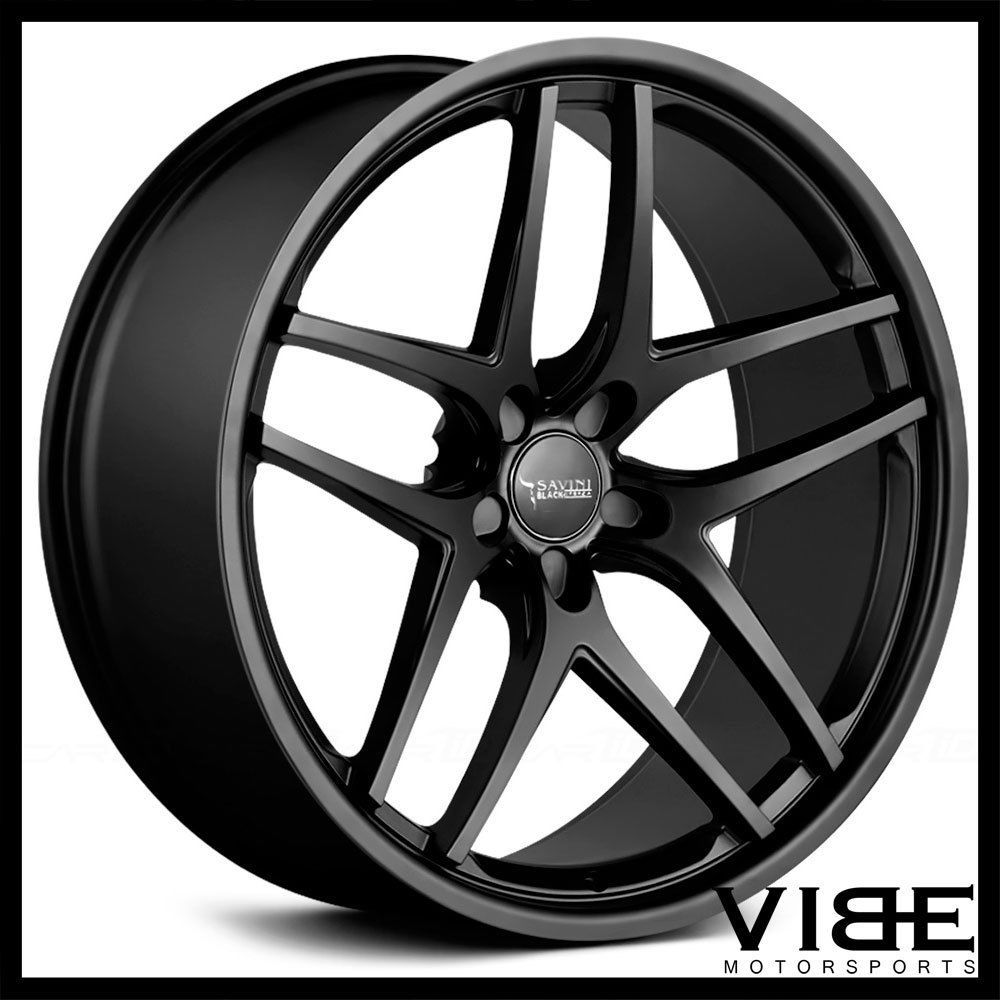 22 savini bm7 black concave wheels rims fits dodge charger rt se srt8 savini