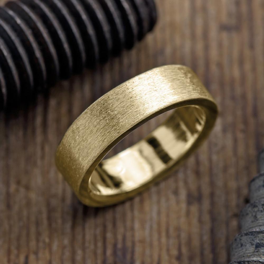 6mm 14k Yellow Gold Men S Wedding Band Matte Finish Mens Gold Wedding Band Mens Yellow Gold Wedding Bands Rose Gold Mens Wedding Band