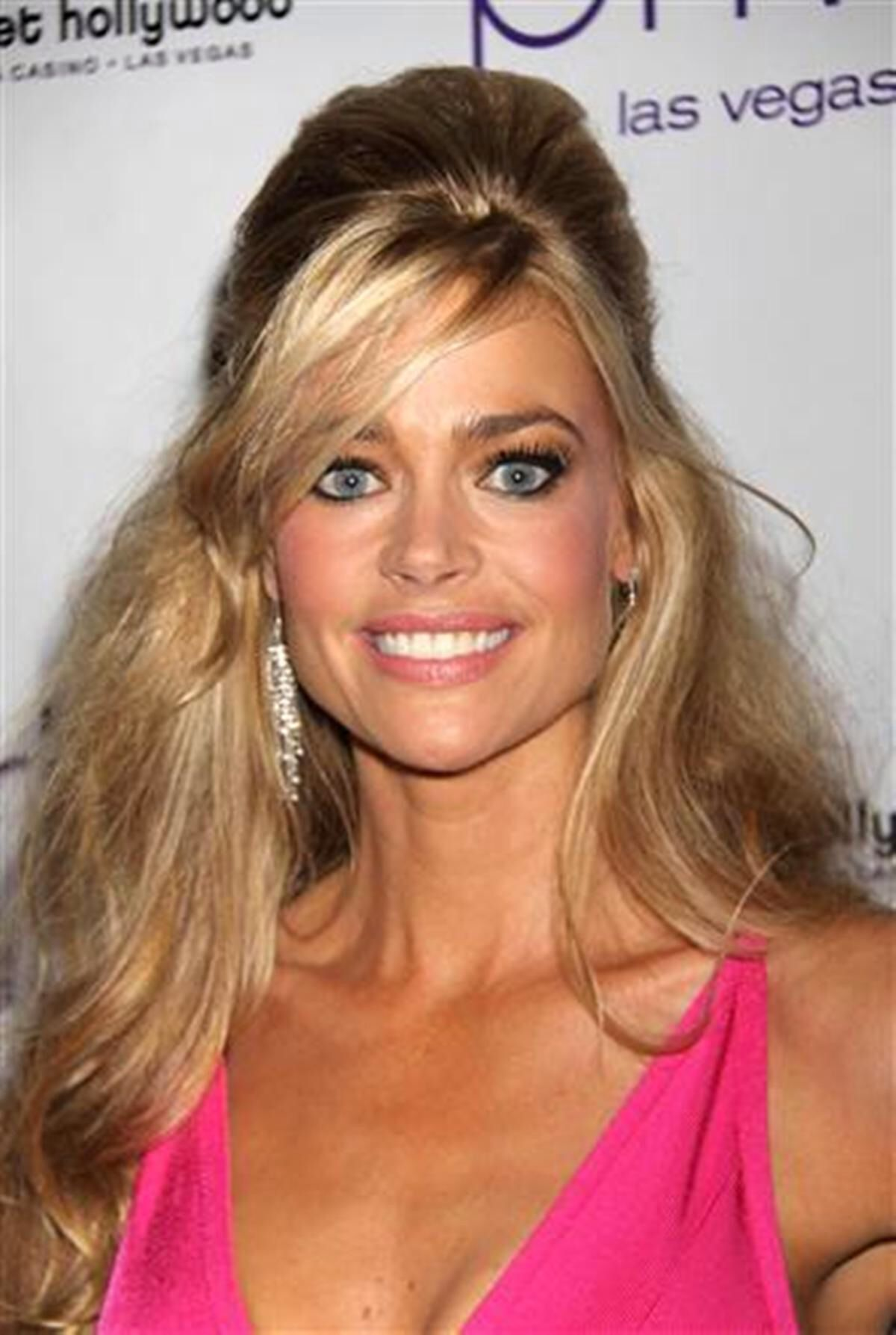 pictures Denise Richards Chignon Hairstyles for Long Hair