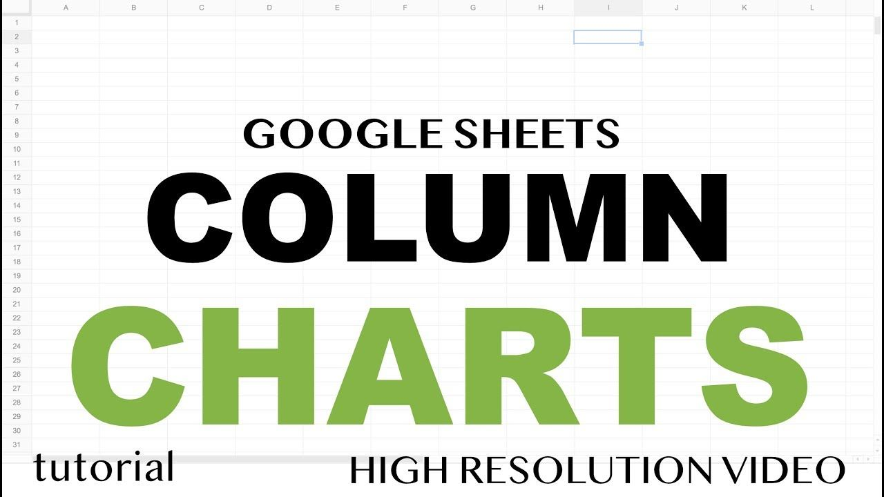 Google Sheets - Column Charts, Bar Chart with Line