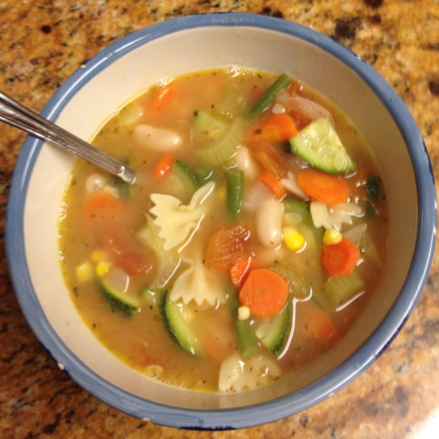 Homemade veggie soup for the Super Bowl (yeah I meant that)