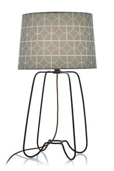 H Buy Black Table Lamp With Geometric Printed Shade From The Next UK Online  Shop