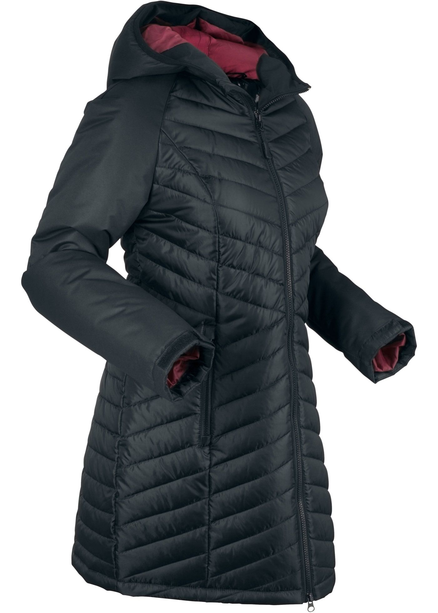 Funktions Mit Funktions Mit SteppeinsatzProducts In Outdoorlangjacke Outdoorlangjacke cAj345LqR