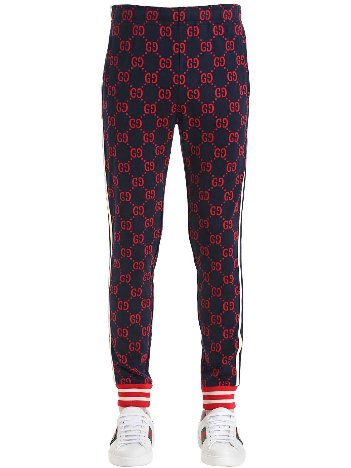 cf8ae4169798d GUCCI GG COTTON JACQUARD LEGGINGS.  gucci  cloth
