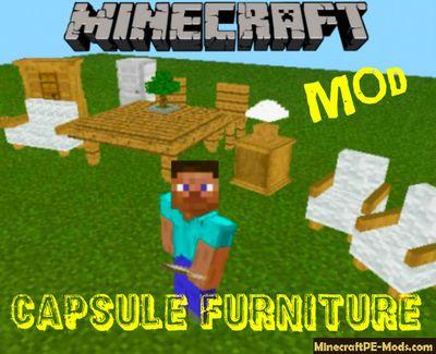 001 Hoipoi Capsule Furniture Minecraft Pe Mod 1 13 0 1 1 12 0 4 In 2020 Capsule Furniture Decorative Items Crafting Recipes